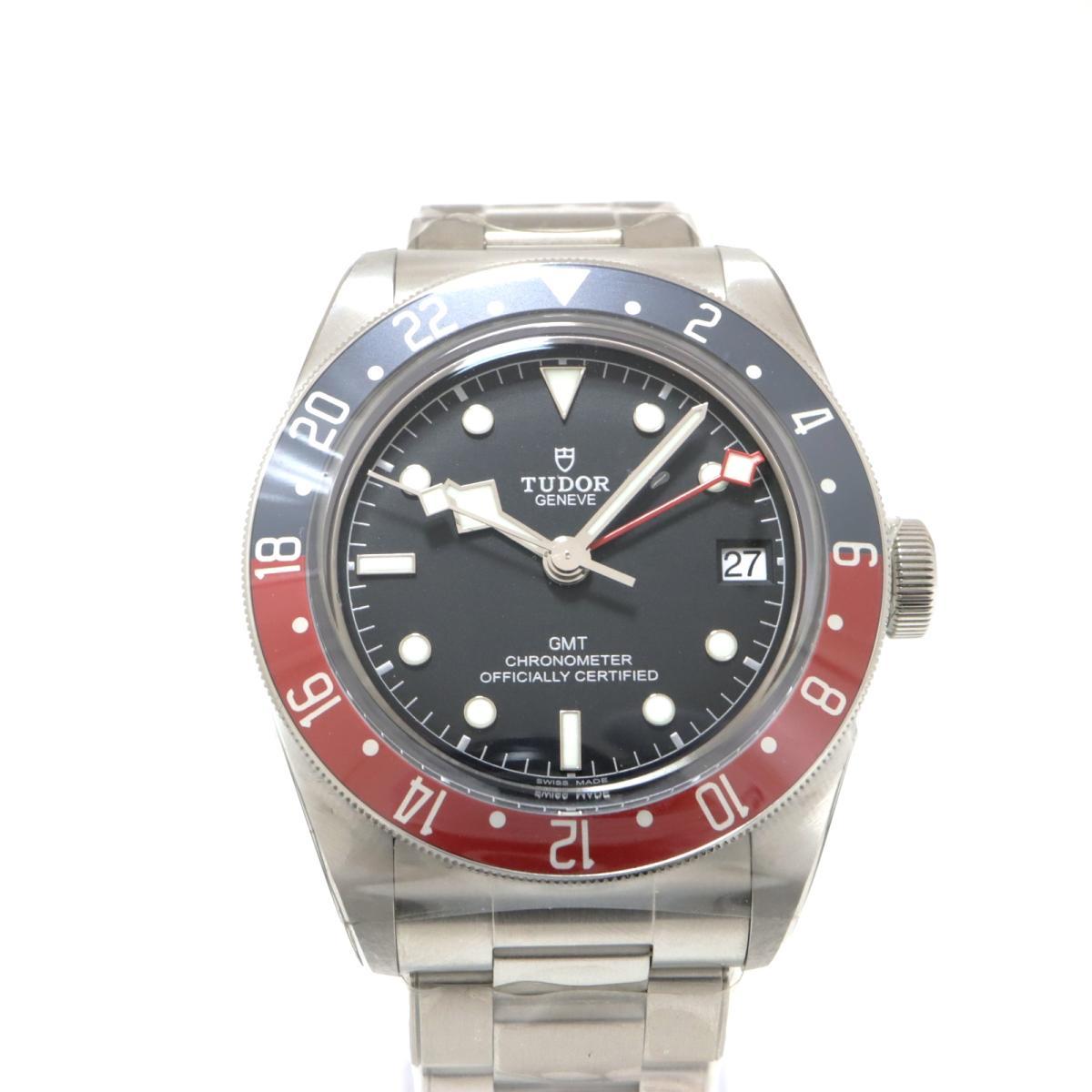 【中古】 チュードル BLACK BAY GMT 腕時計 メンズ ステンレススチール (SS) バーガンディ ブルー シルバー (79830RB) | TUDOR BRANDOFF ブランドオフ ブランド ブランド時計 ブランド腕時計 時計 ウォッチ
