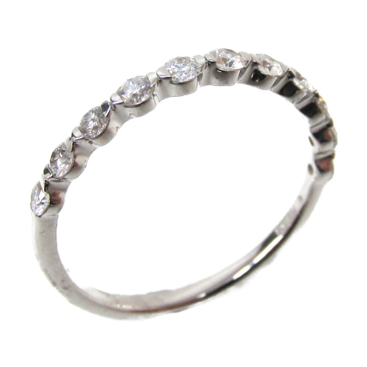 【中古】 ジュエリー ダイヤモンドリング 指輪 レディース K18WG (750) ホワイトゴールド x ダイヤモンド (0.33ct) | JEWELRY BRANDOFF ブランドオフ ブランド アクセサリー リング