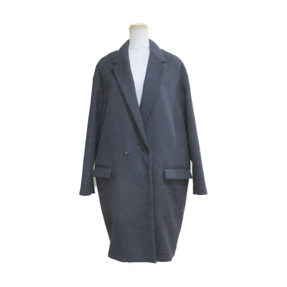 【中古】 イザベルマラン コート レディース ウール99% x ナイロン1% ネイビー | ISABEL MARANT BRANDOFF ブランドオフ 衣料品 衣類 ブランド アウター ジャケット