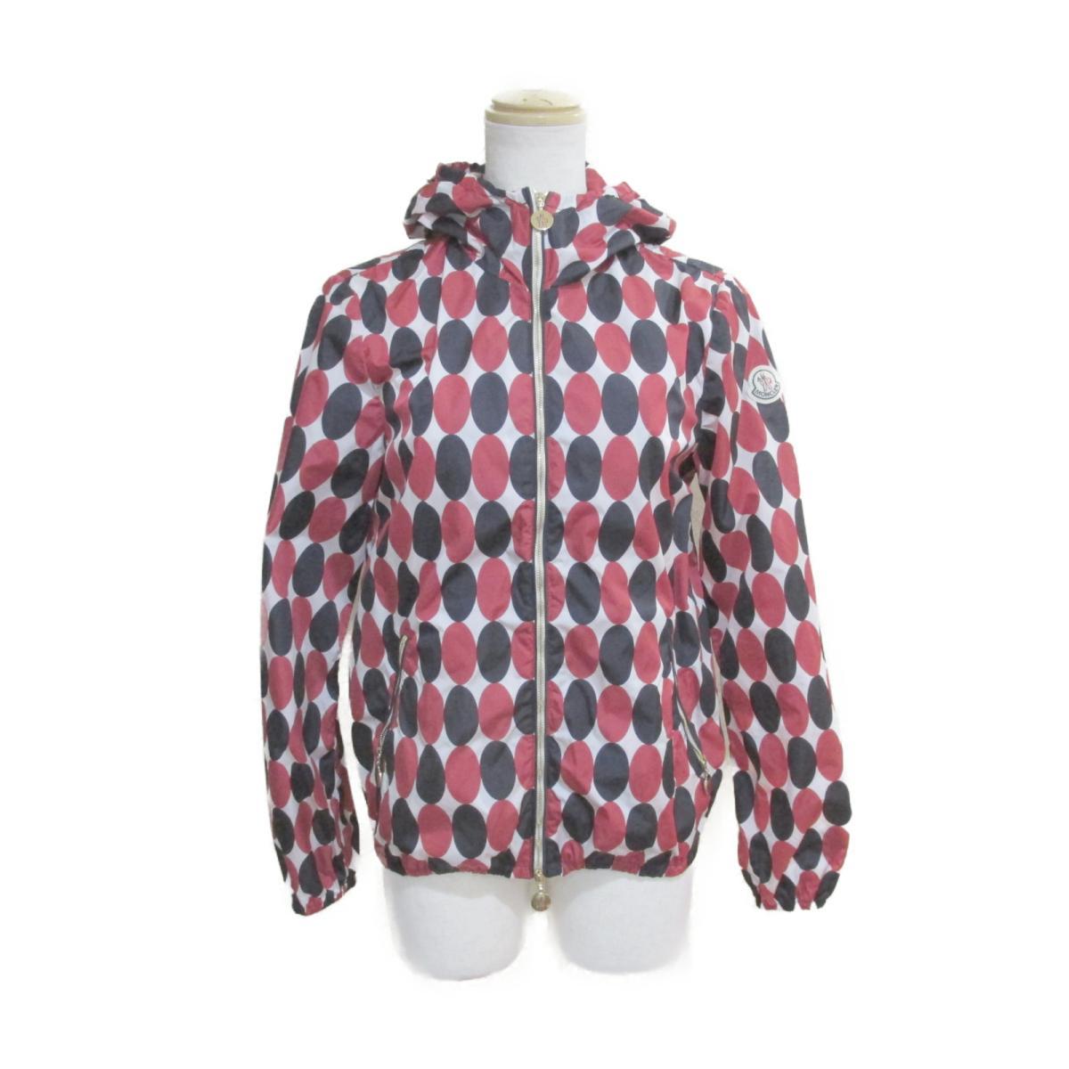 【中古】 モンクレール ブルゾン レディース ナイロン100% ホワイト x レッド ネイビー | MONCLER BRANDOFF ブランドオフ 衣料品 衣類 ブランド アウター ジャケット コート