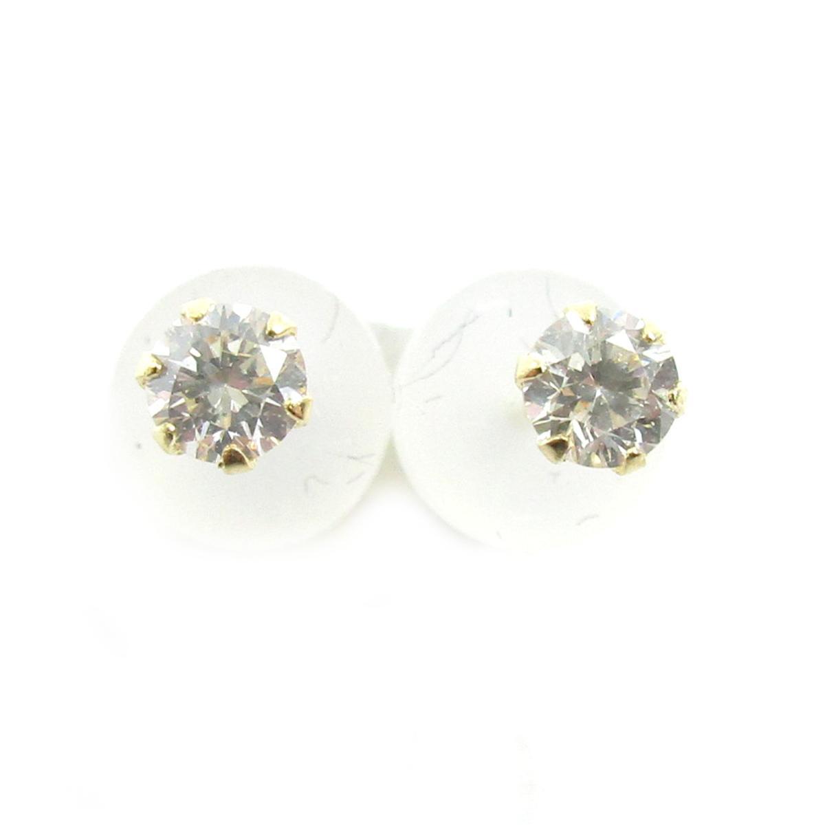 【中古】 ジュエリー ダイヤモンドピアス レディース K18YG (750) イエローゴールド x ダイヤモンド0.10ct*2 ゴールド クリアー | JEWELRY BRANDOFF ブランドオフ ブランド アクセサリー ピアス
