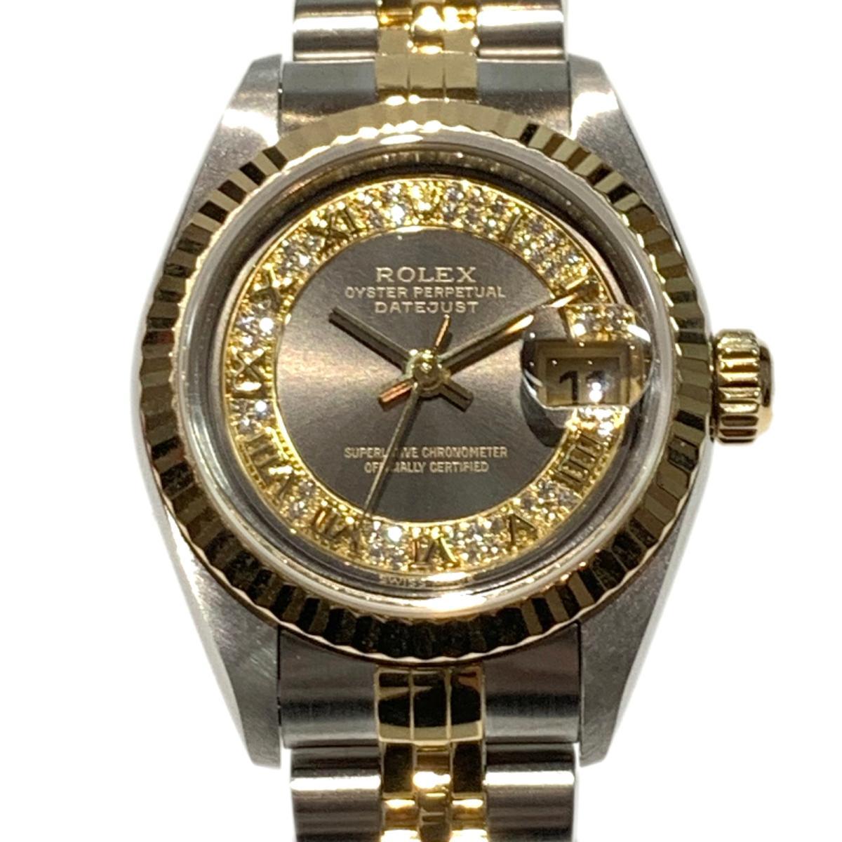 ≪期間限定≫メルマガ登録でクーポンGET! 【中古】 ロレックス デイトジャスト 腕時計 ウォッチ レディース ステンレススチール (SS) イエローゴールド ダイヤモンド ゴールド (79173MR) | ROLEX BRANDOFF ブランドオフ ブランド ブランド時計 ブランド腕時計