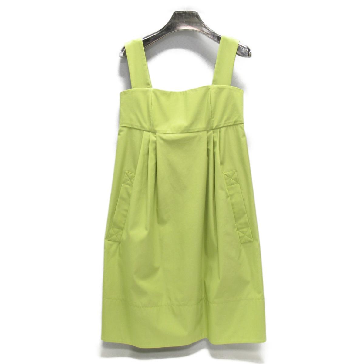 【中古】 フォクシーニューヨーク ワンピース レディース コットン (57%) x ポリエステル (43%) ライトグリーン | FOXEY NEW YORK BRANDOFF ブランドオフ 衣料品 衣類 ブランド