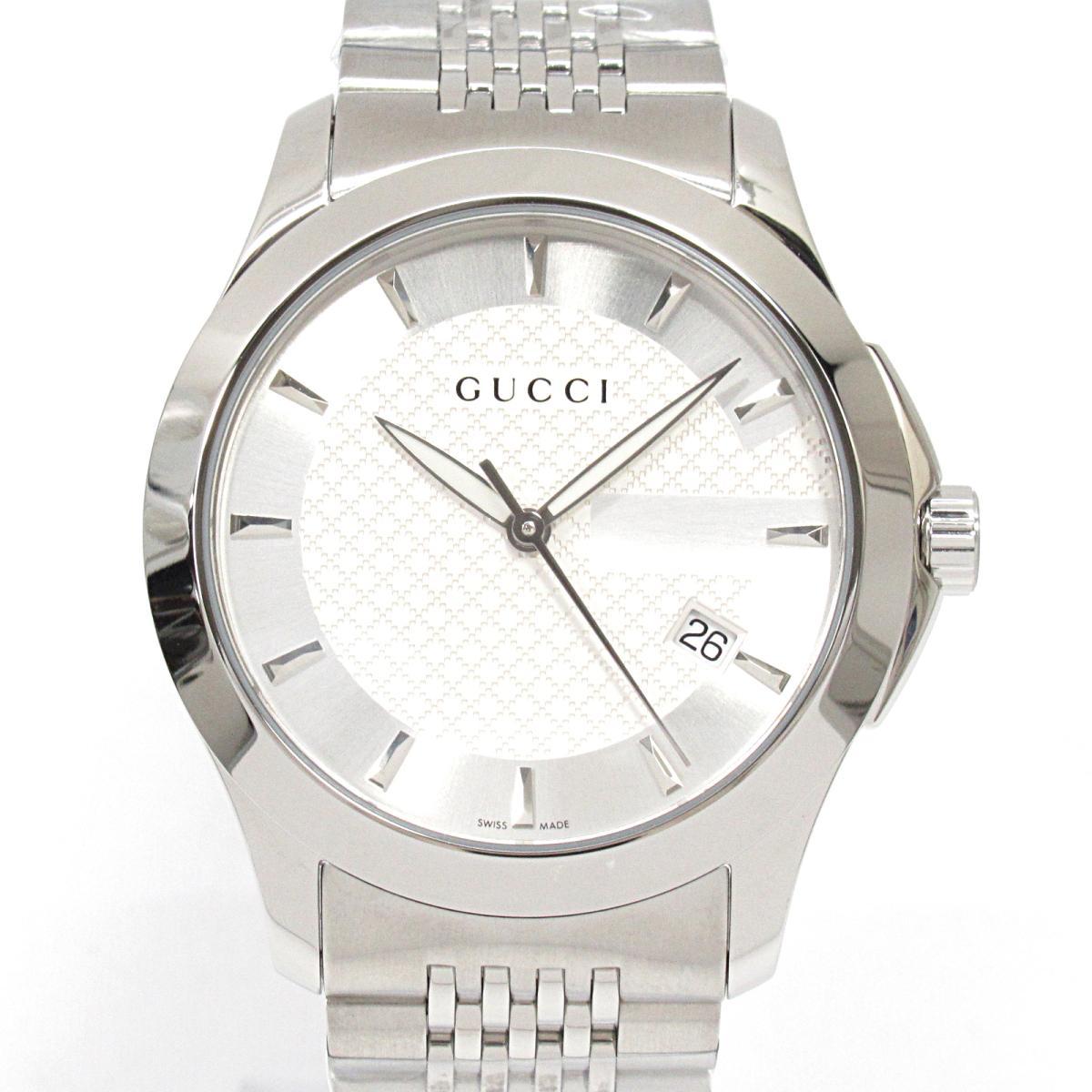 【中古】 グッチ Gタイムレス 腕時計 ウォッチ メンズ ステンレススチール (SS) (126.4) | GUCCI BRANDOFF ブランドオフ ブランド ブランド時計 ブランド腕時計 時計