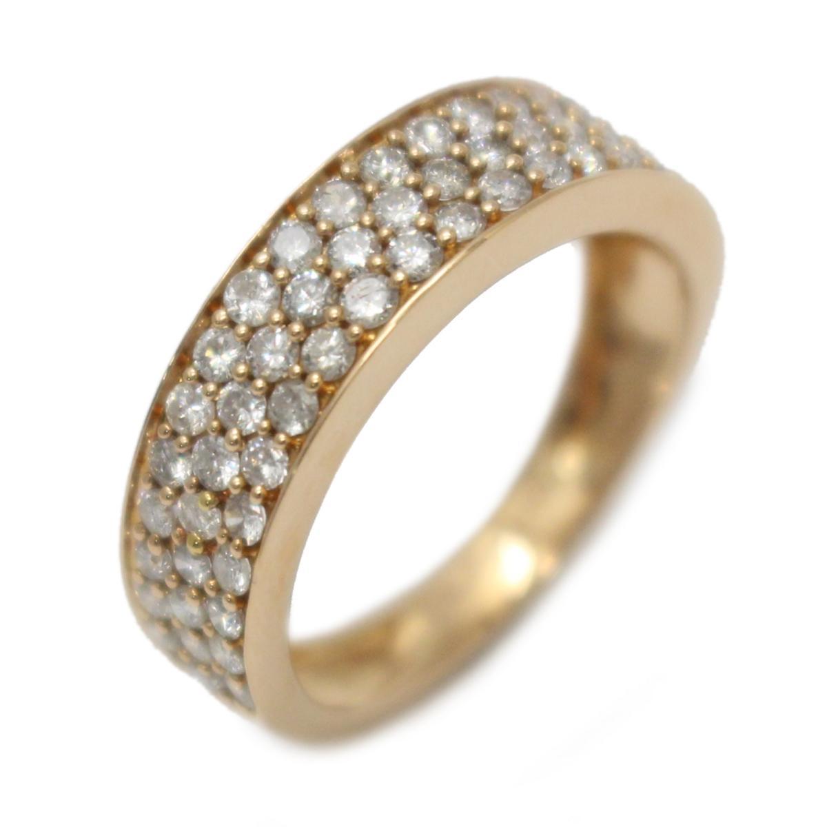 【中古】 ジュエリー ダイヤモンド リング 指輪 レディース K18PG (750) ピンクゴールド x (0.61ct) | JEWELRY BRANDOFF ブランドオフ アクセサリー