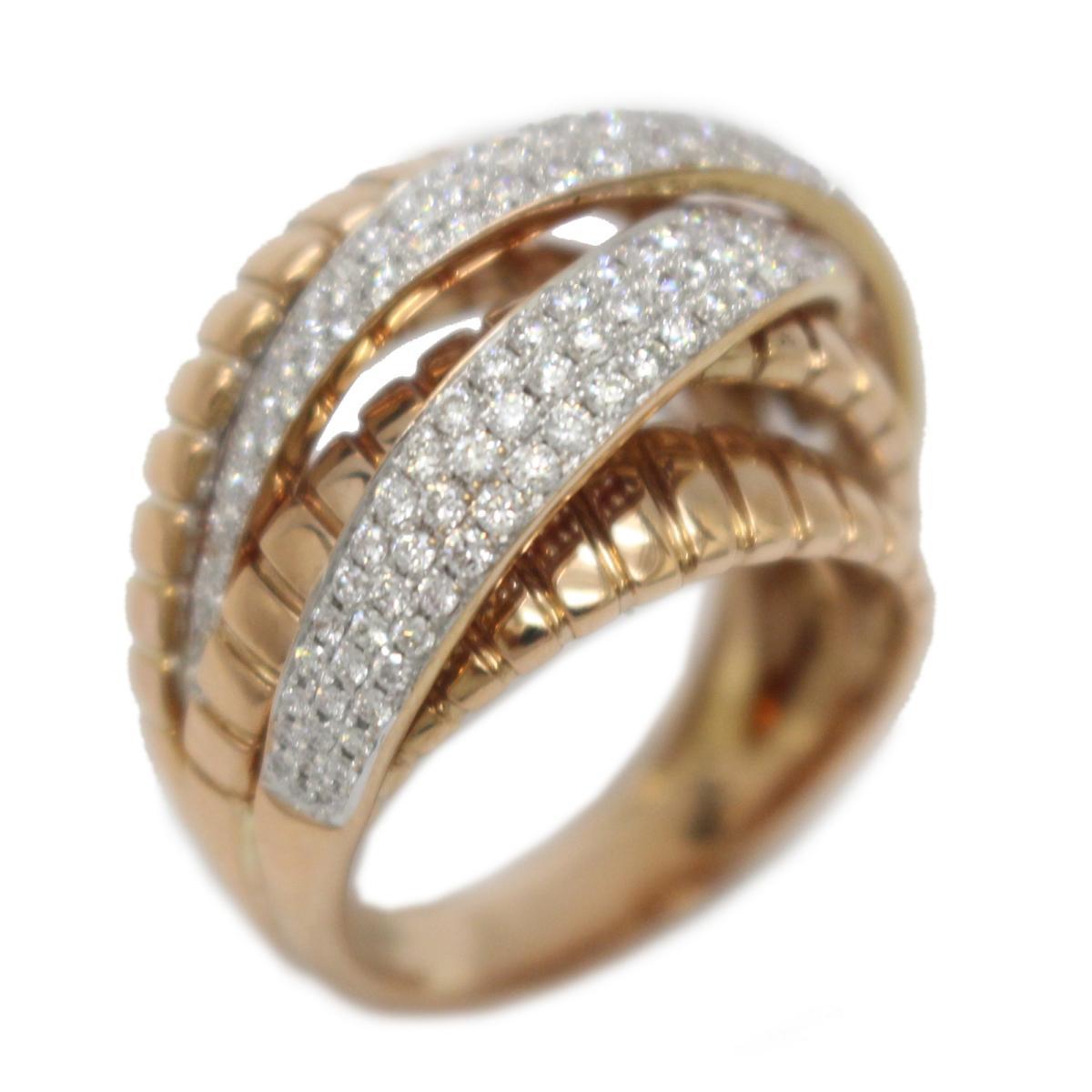 【中古】 ジュエリー ダイヤモンド リング 指輪 レディース K18PG (750) ピンクゴールド x (1.33ct) | JEWELRY BRANDOFF ブランドオフ アクセサリー
