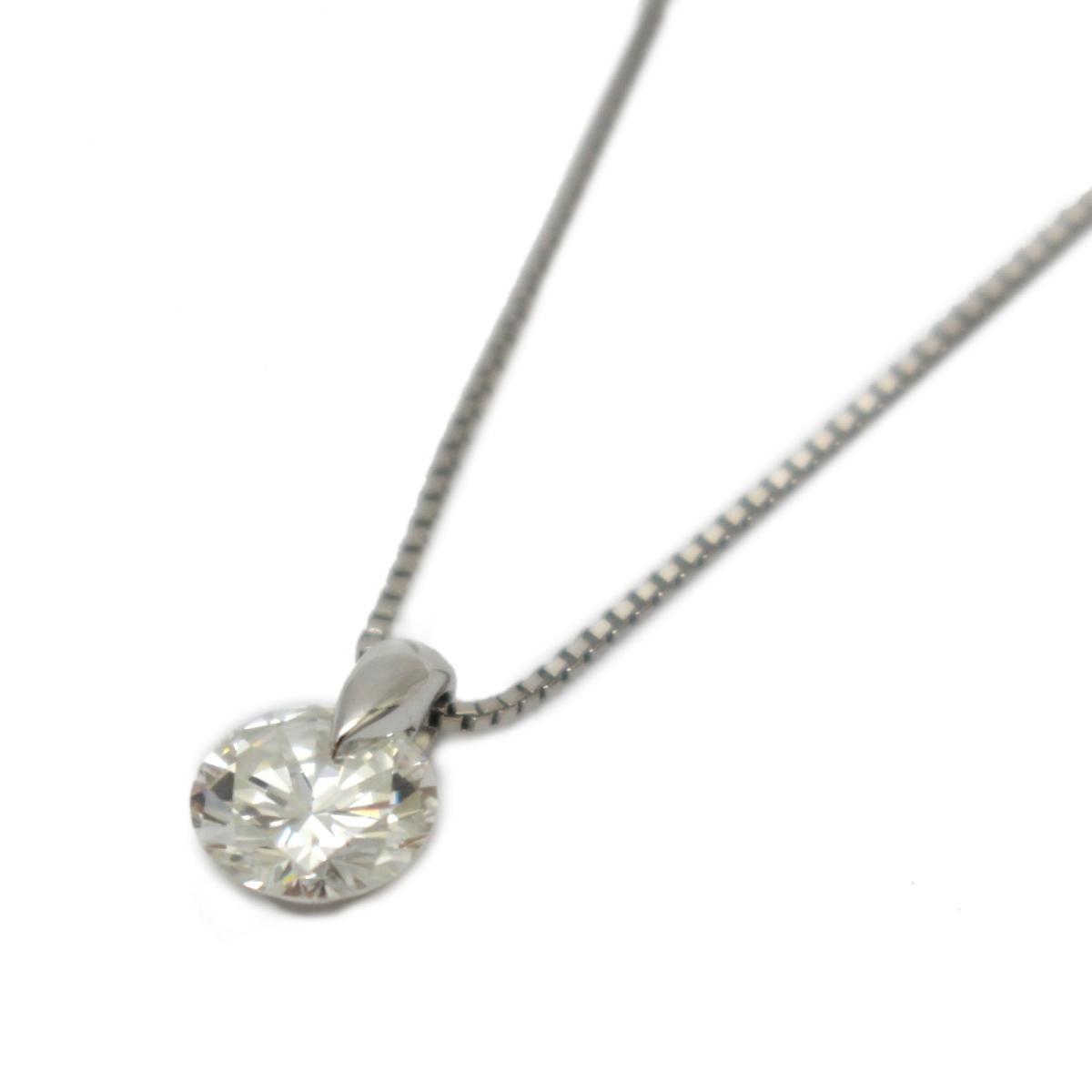 【中古】 ジュエリー ダイヤモンド ネックレス レディース PT900 プラチナ x (1.022ct) PT850 | JEWELRY BRANDOFF ブランドオフ ブランド アクセサリー ペンダント