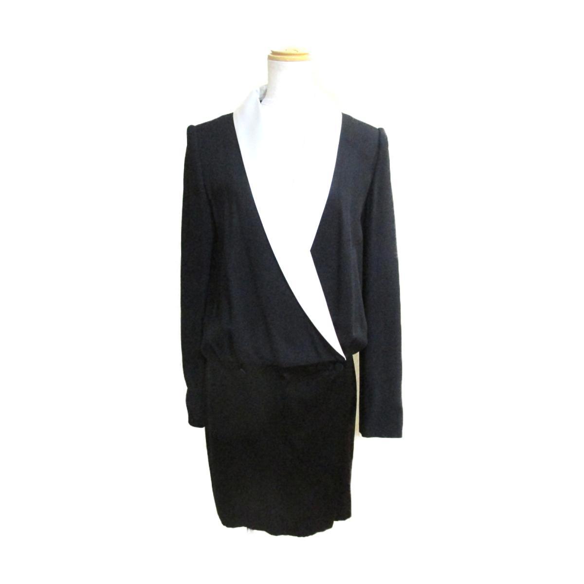 【中古】 ランバン ワンピース レディース アセテート ビスコース ブラック ホワイト | LANVIN BRANDOFF ブランドオフ 衣料品 衣類 ブランド