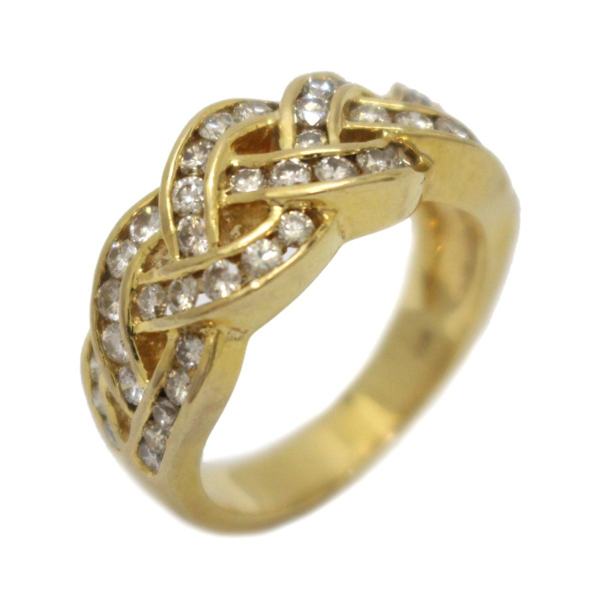 【中古】 ジュエリー ダイヤモンド リング 指輪 レディース K18YG (750) イエローゴールド x (1.00ct) | JEWELRY BRANDOFF ブランドオフ ブランド アクセサリー