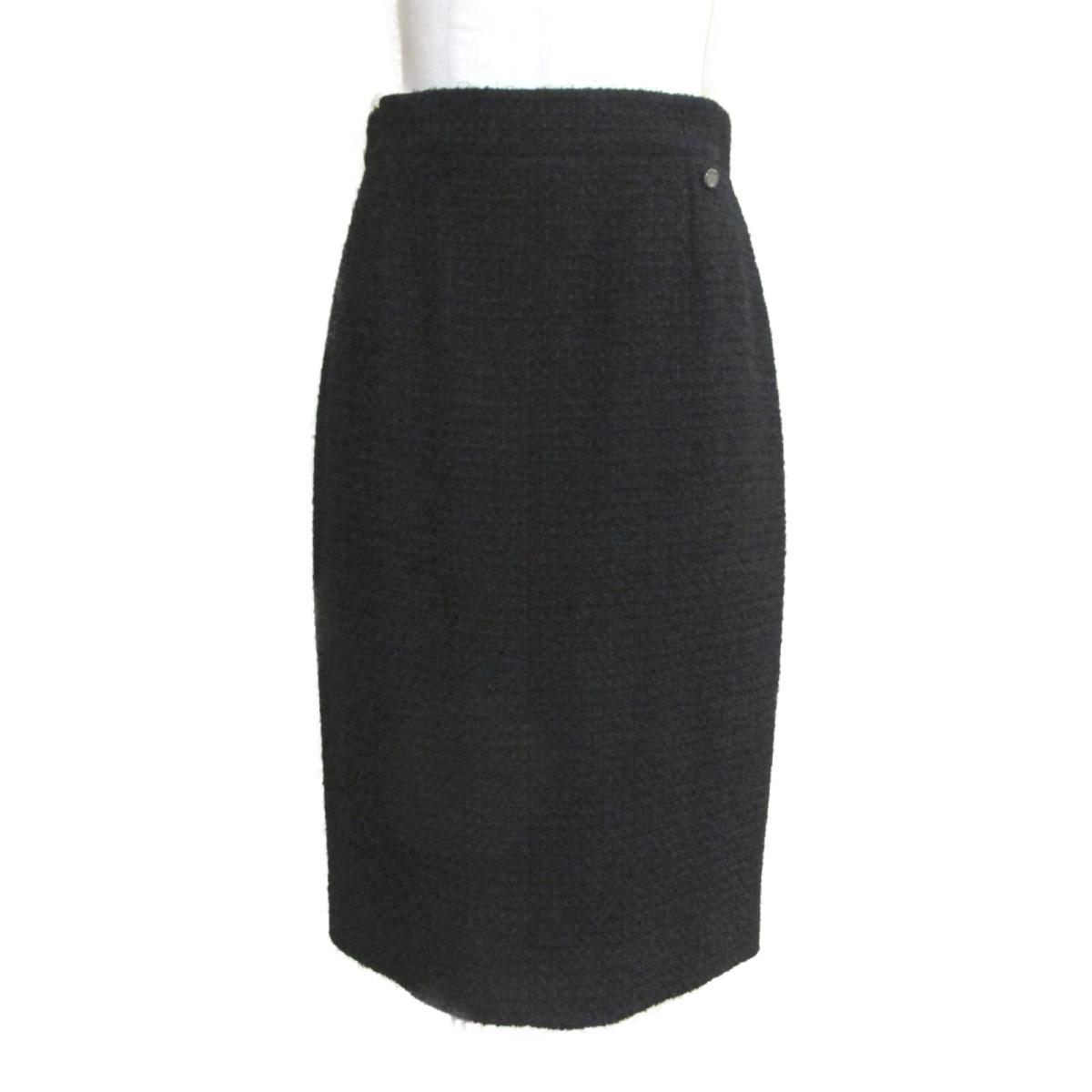 【中古】 シャネル 11C ツィード スカート レディース ウール x ポリアミド ブラック (P40166V19676) | CHANEL BRANDOFF ブランドオフ 衣料品 衣類 ブランド ボトムス