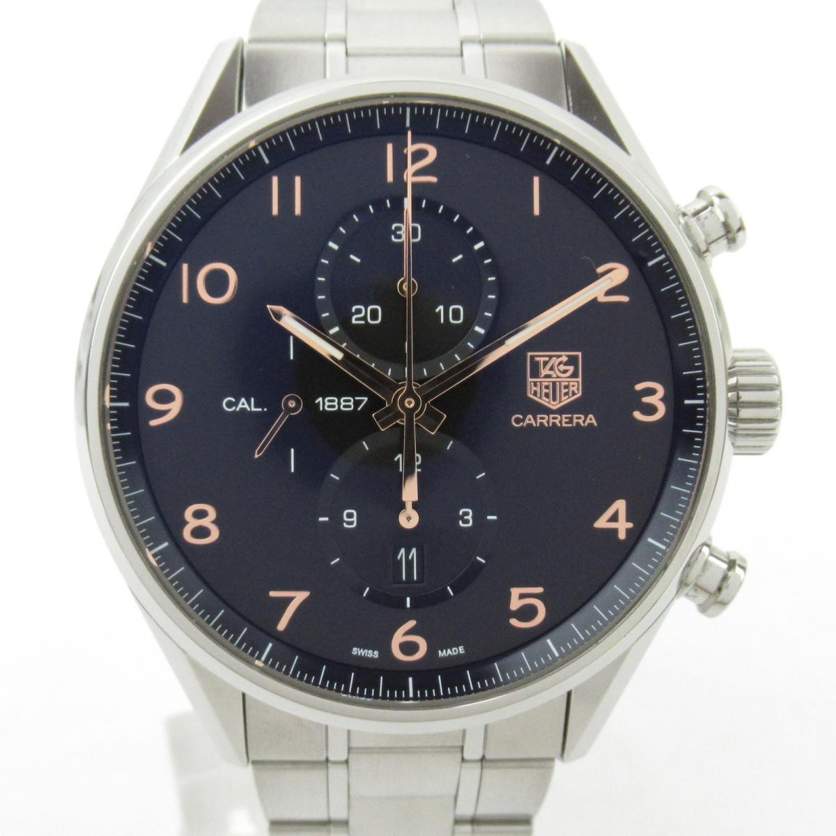 【中古】 タグ・ホイヤー カレラ ウォッチ 腕時計 メンズ ステンレススチール (SS) (CAR2014.BA0796) | TAG HEUER BRANDOFF ブランドオフ ブランド ブランド時計 ブランド腕時計 時計