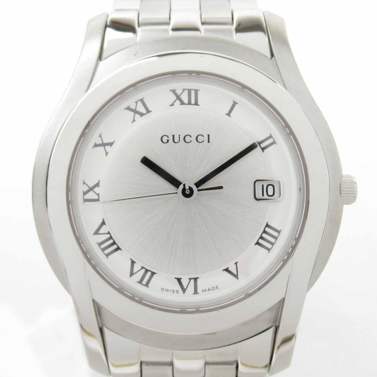 【中古】 グッチ 時計 ウォッチ 腕時計 メンズ ステンレススチール (SS) (5500M) | GUCCI BRANDOFF ブランドオフ ブランド ブランド時計 ブランド腕時計