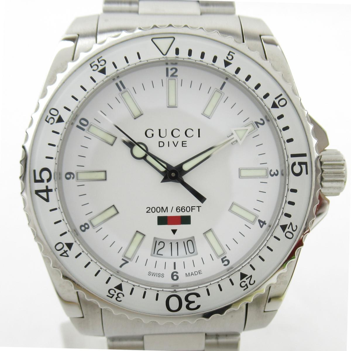 ≪期間限定≫メルマガ登録でクーポンGET! 【中古】 グッチ ウォッチ 腕時計 メンズ ステンレススチール (SS) (136.3)   GUCCI BRANDOFF ブランドオフ レディース ブランド ブランド時計 ブランド腕時計 時計