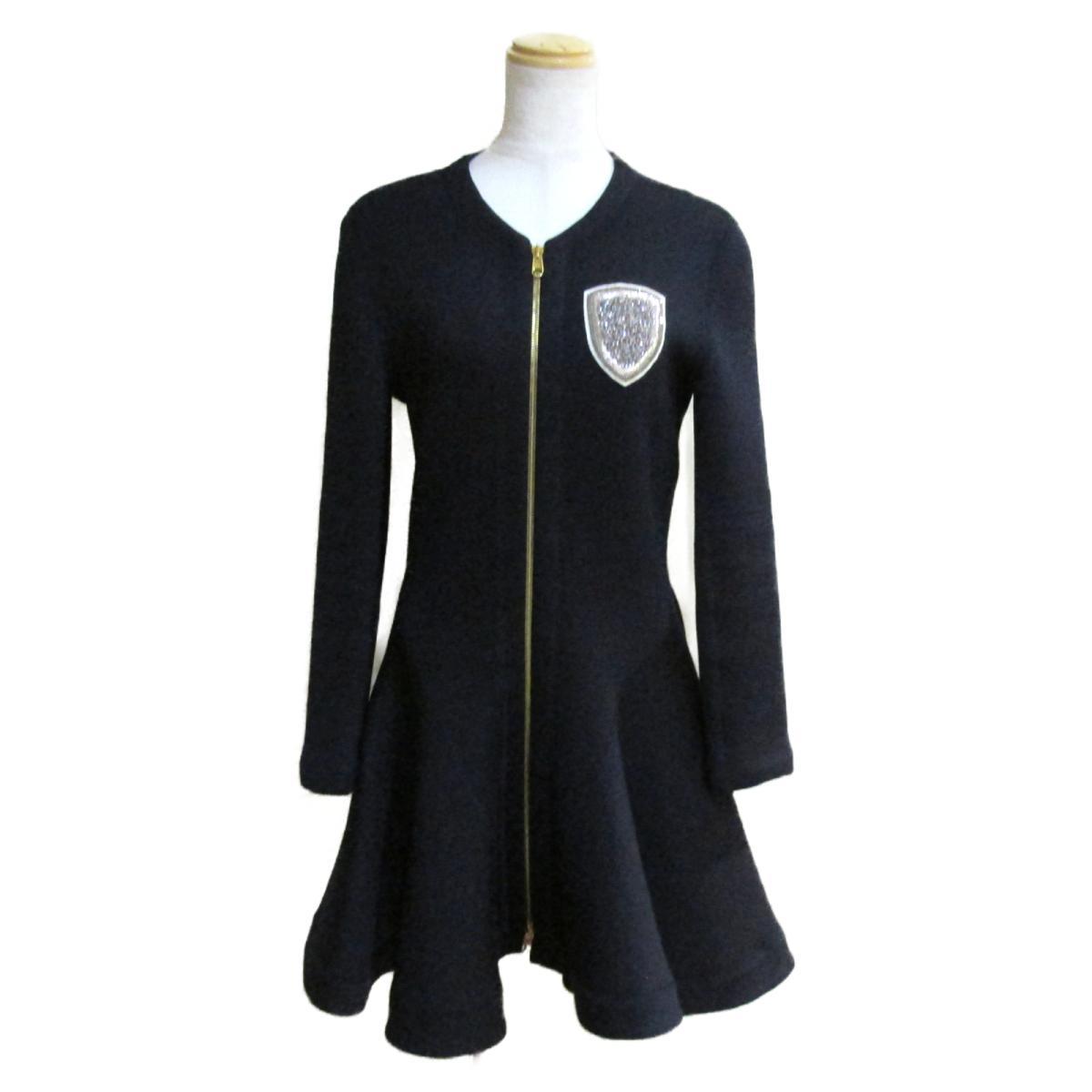 【中古】 クリスチャン・ディオール コート ドレス ワンピース レディース ウール x ポリエステル ネイビー | Dior BRANDOFF ブランドオフ 衣料品 衣類 ブランド