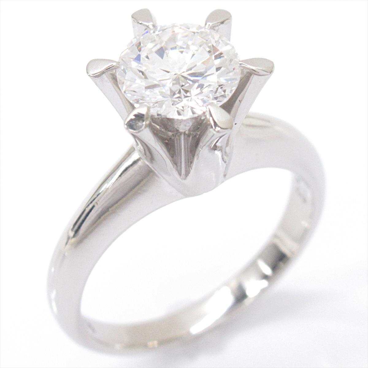 【中古】 ジュエリー 1粒 ダイヤモンド リング 指輪 レディース PT900 プラチナ x   JEWELRY BRANDOFF ブランドオフ ブランド アクセサリー