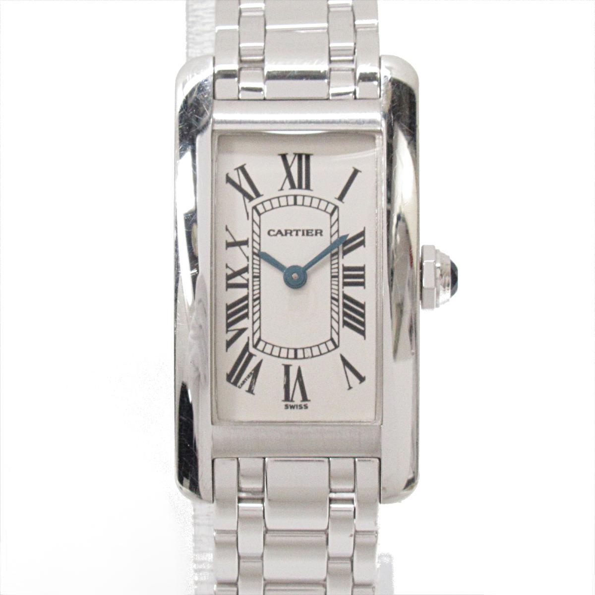 ≪期間限定≫メルマガ登録でクーポンGET! 【中古】 カルティエ タンクアメリカンSM 腕時計 ウォッチ レディース 18K (ホワイトゴールド) (W26019L1) | Cartier BRANDOFF ブランドオフ ブランド ブランド時計 ブランド腕時計 時計