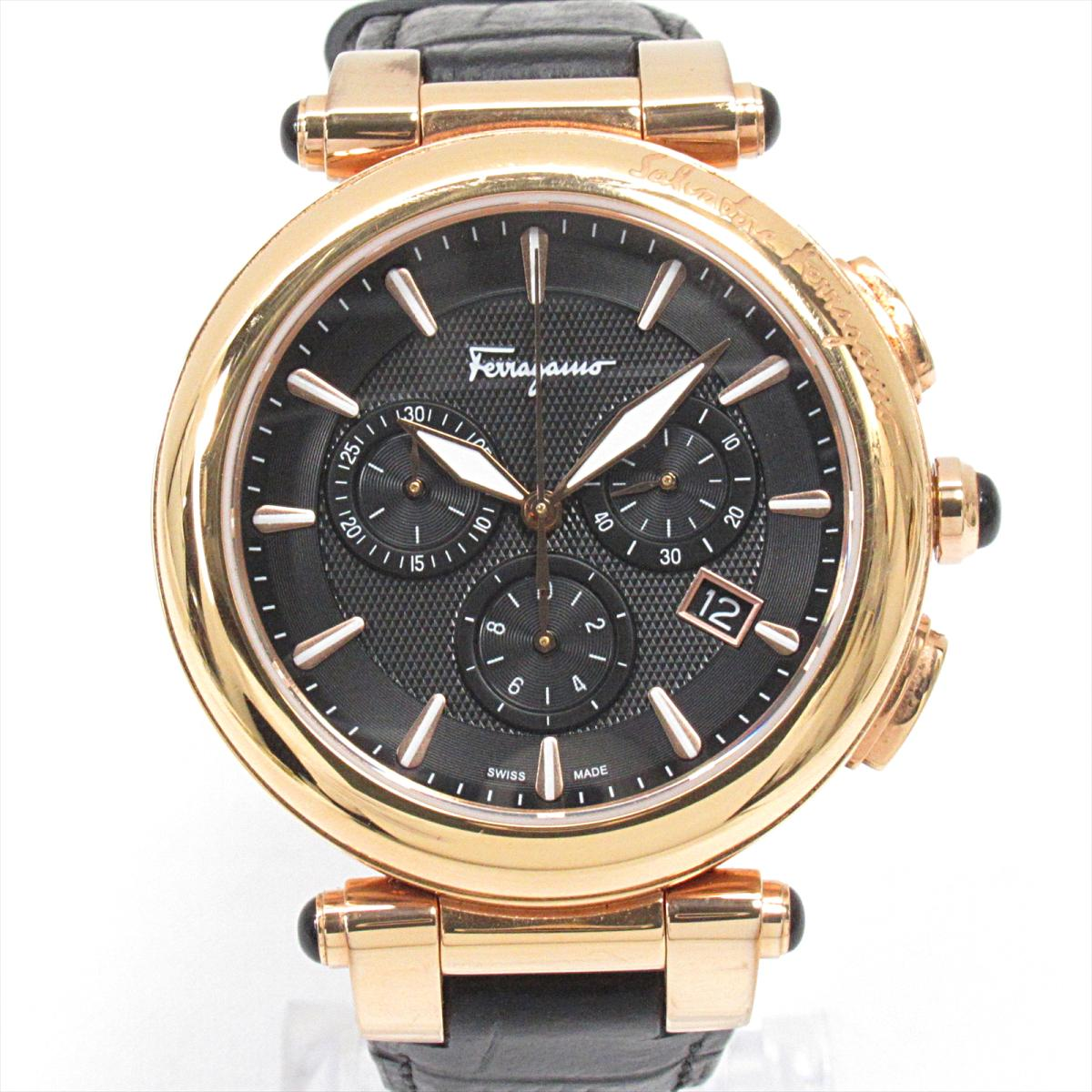 【中古】 サルヴァトーレ・フェラガモ 腕時計 ウォッチ メンズ ステンレススチール (SS) レザーベルト | Salvatore Ferragamo BRANDOFF ブランドオフ ブランド ブランド時計 ブランド腕時計 時計
