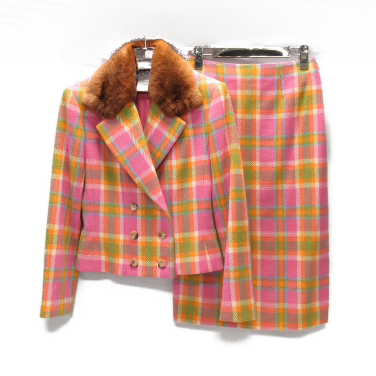 【中古】 クリスチャン・ディオール セットアップ レディース ウール マルチカラー   Dior BRANDOFF ブランドオフ 衣料品 衣類 ブランド