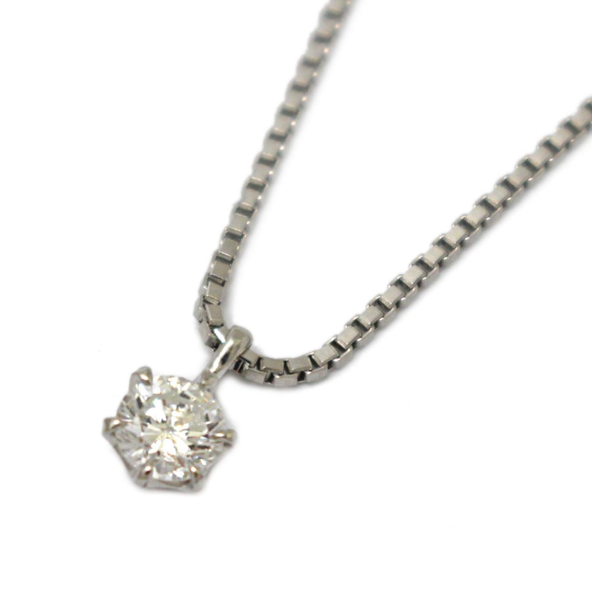 【中古】 ジュエリー ダイヤモンド ネックレス レディース PT850 プラチナ x (0.310ct) | JEWELRY BRANDOFF ブランドオフ ブランド アクセサリー ペンダント