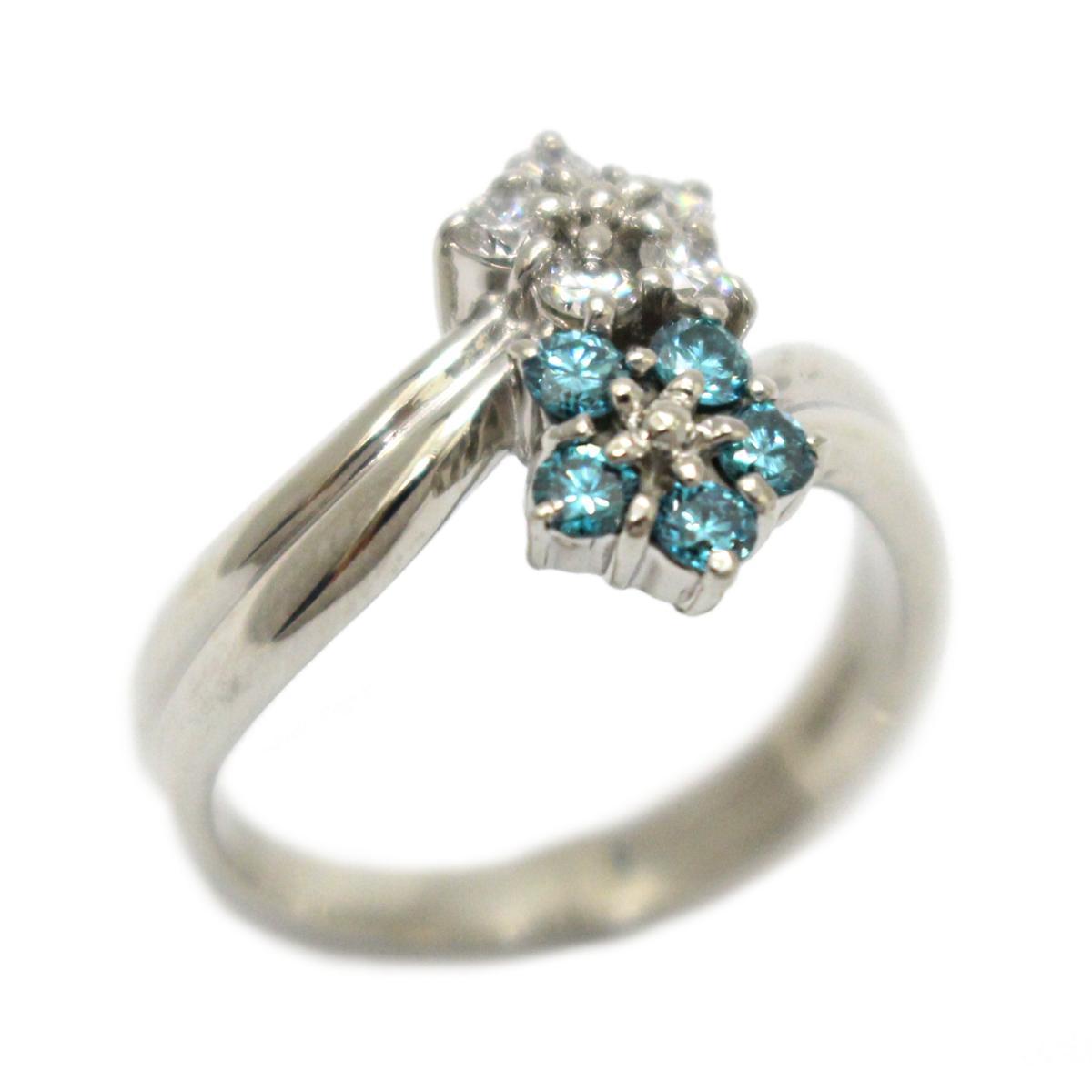 【中古】 ジュエリー ダイヤモンド リング 指輪 レディース PT900 プラチナ x (0.50ct) ブルー | JEWELRY BRANDOFF ブランドオフ ブランド アクセサリー