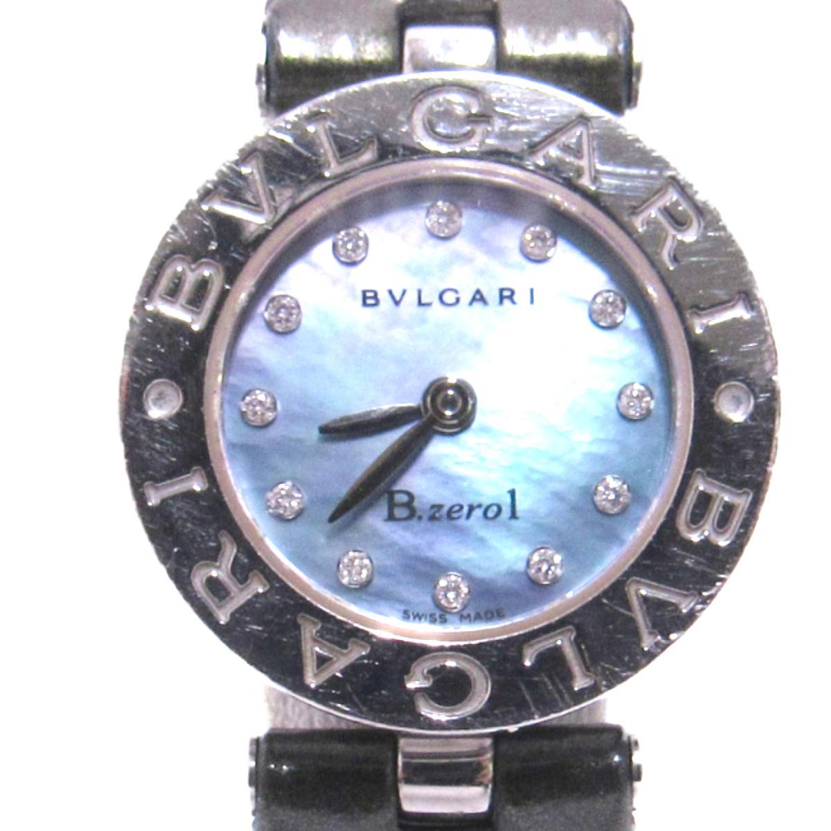 【中古】 ブルガリ B-zero1 12Pダイヤモンド 腕時計 ウォッチ レディース ステンレススチール (SS) ダイヤモンド グリーン シルバー (BZ22S) | BVLGARI BRANDOFF ブランドオフ ブランド ブランド時計 ブランド腕時計 時計