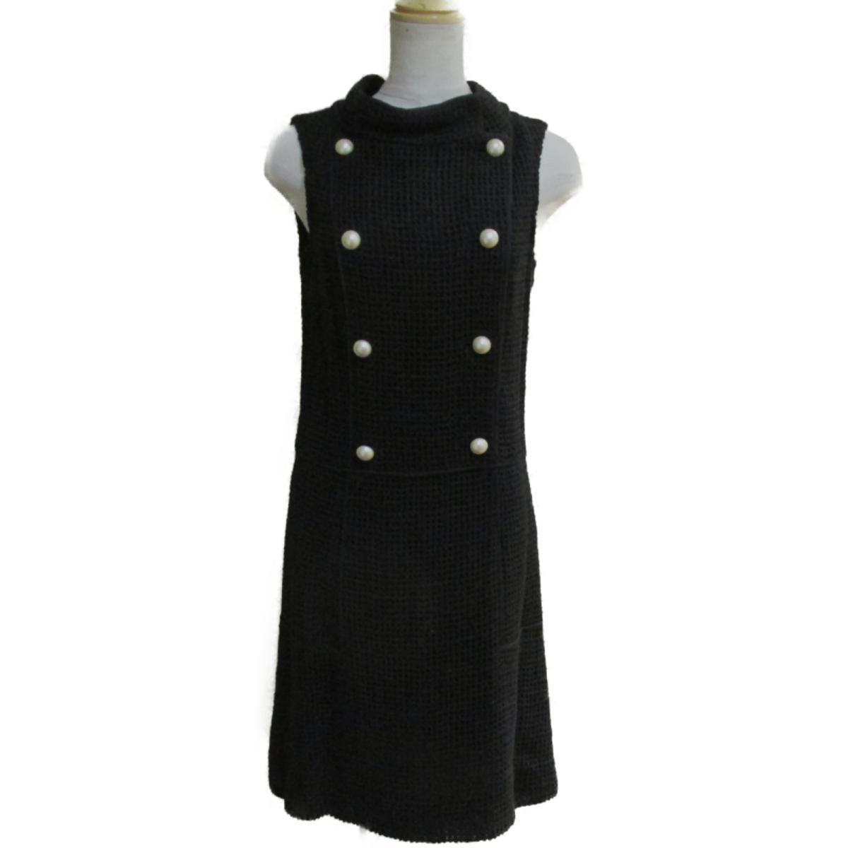 【中古】 シャネル ワンピース レディース シルク100% ブラック (P46193V33717)   CHANEL BRANDOFF ブランドオフ 衣料品 衣類 ブランド