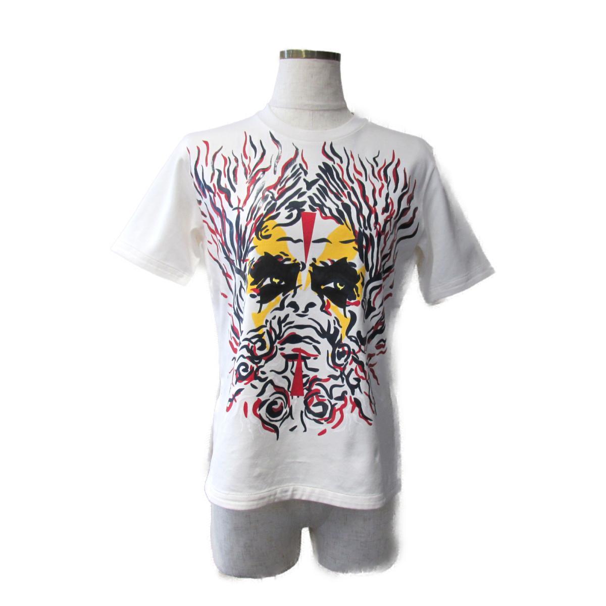 【中古】 ルイヴィトン Tシャツ レディース コットン ホワイト x レッド ブラック イエロー | LOUIS VUITTON BRANDOFF ブランドオフ ヴィトン ビトン ルイ・ヴィトン 衣料品 衣類 ブランド トップス シャツ カットソー