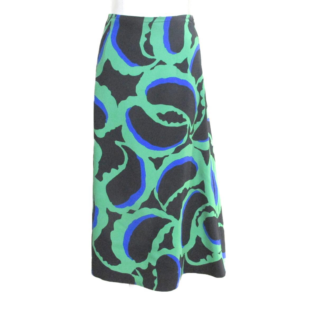 【中古】 セレクション MARNI スカート レディース レーヨン100% ブラック x グリーン ブルー | SELECTION BRANDOFF ブランドオフ 衣料品 衣類 ブランド ボトムス