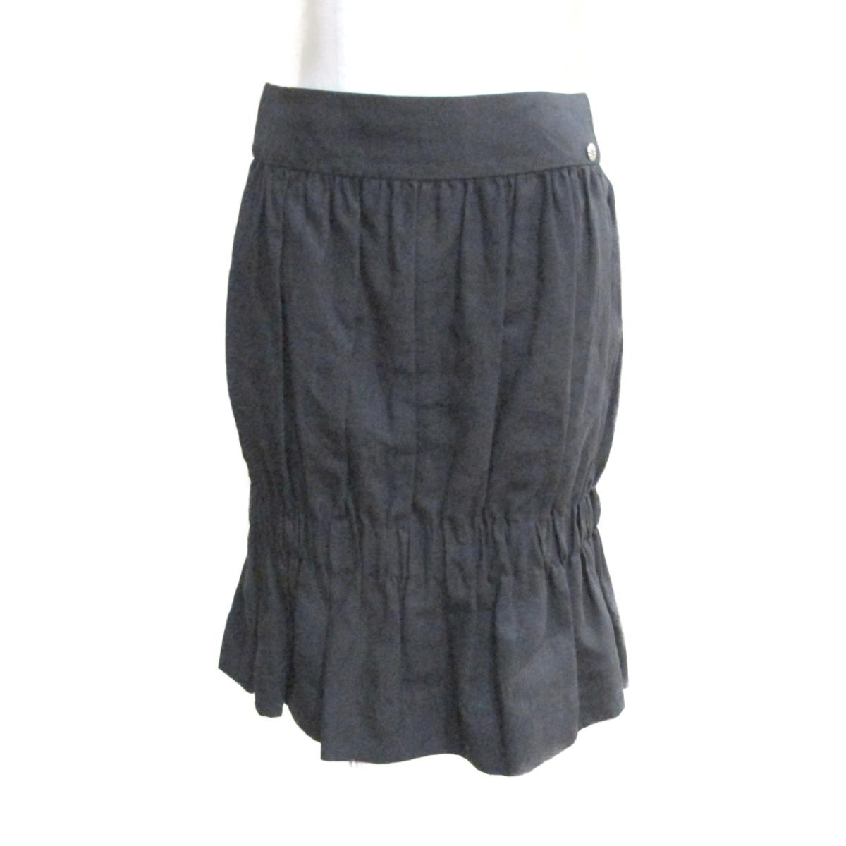 【中古】 シャネル スカート レディース リネン100% ブラック (P43117V28988) | CHANEL BRANDOFF ブランドオフ 衣料品 衣類 ブランド ボトムス