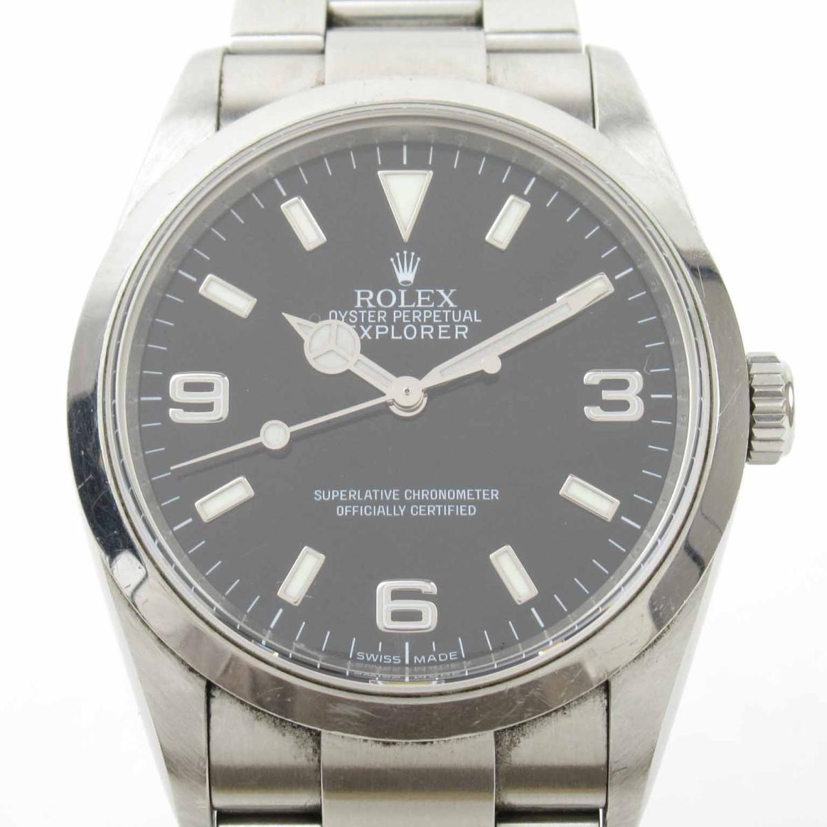 ≪期間限定≫メルマガ登録でクーポンGET! 【中古】 ロレックス エクスプローラー1 ウォッチ 腕時計 メンズ ステンレススチール (SS) (114270 Z番) | ROLEX BRANDOFF ブランドオフ ブランド ブランド時計 ブランド腕時計 時計