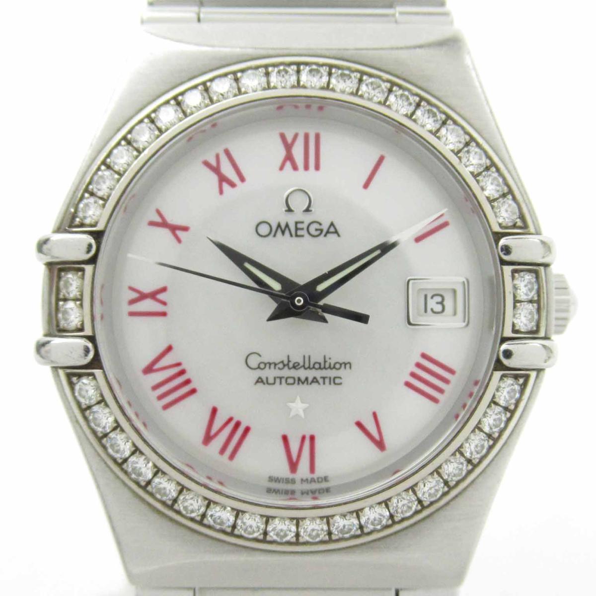 ≪期間限定≫メルマガ登録でクーポンGET! 【中古】 オメガ コンステレーション ダイヤベゼル ウォッチ 腕時計 レディース ステンレススチール (SS) (1497.63) | OMEGA BRANDOFF ブランドオフ ブランド ブランド時計 ブランド腕時計 時計