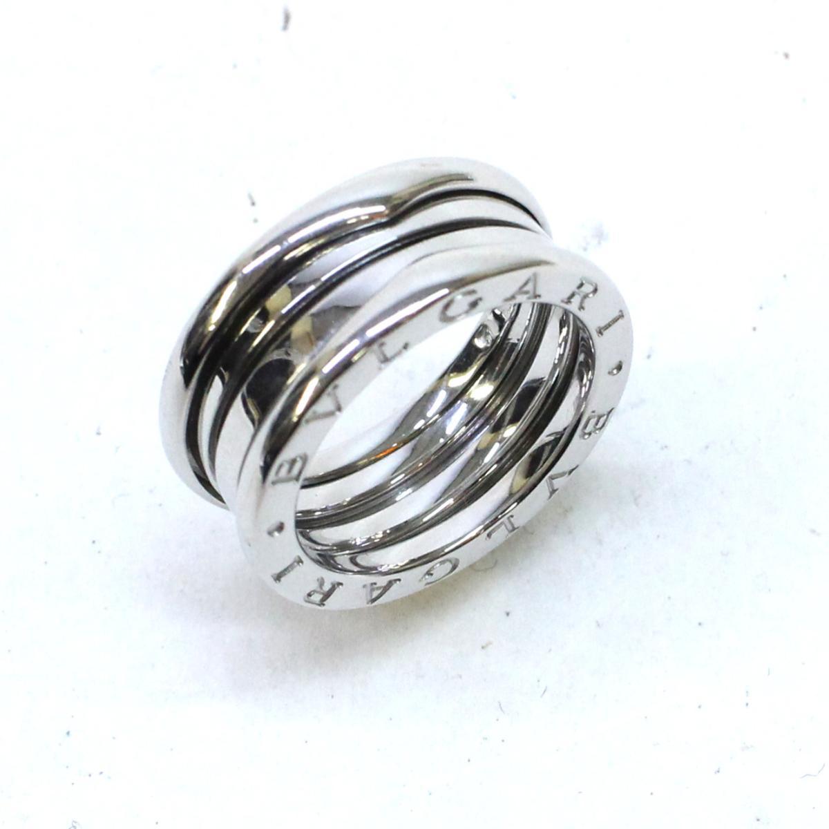 【中古】 ブルガリ B-zero1 リング Sサイズ レディース K18WG (750) ホワイトゴールド シルバー | BVLGARI BRANDOFF ブランドオフ ブランド ジュエリー アクセサリー 指輪