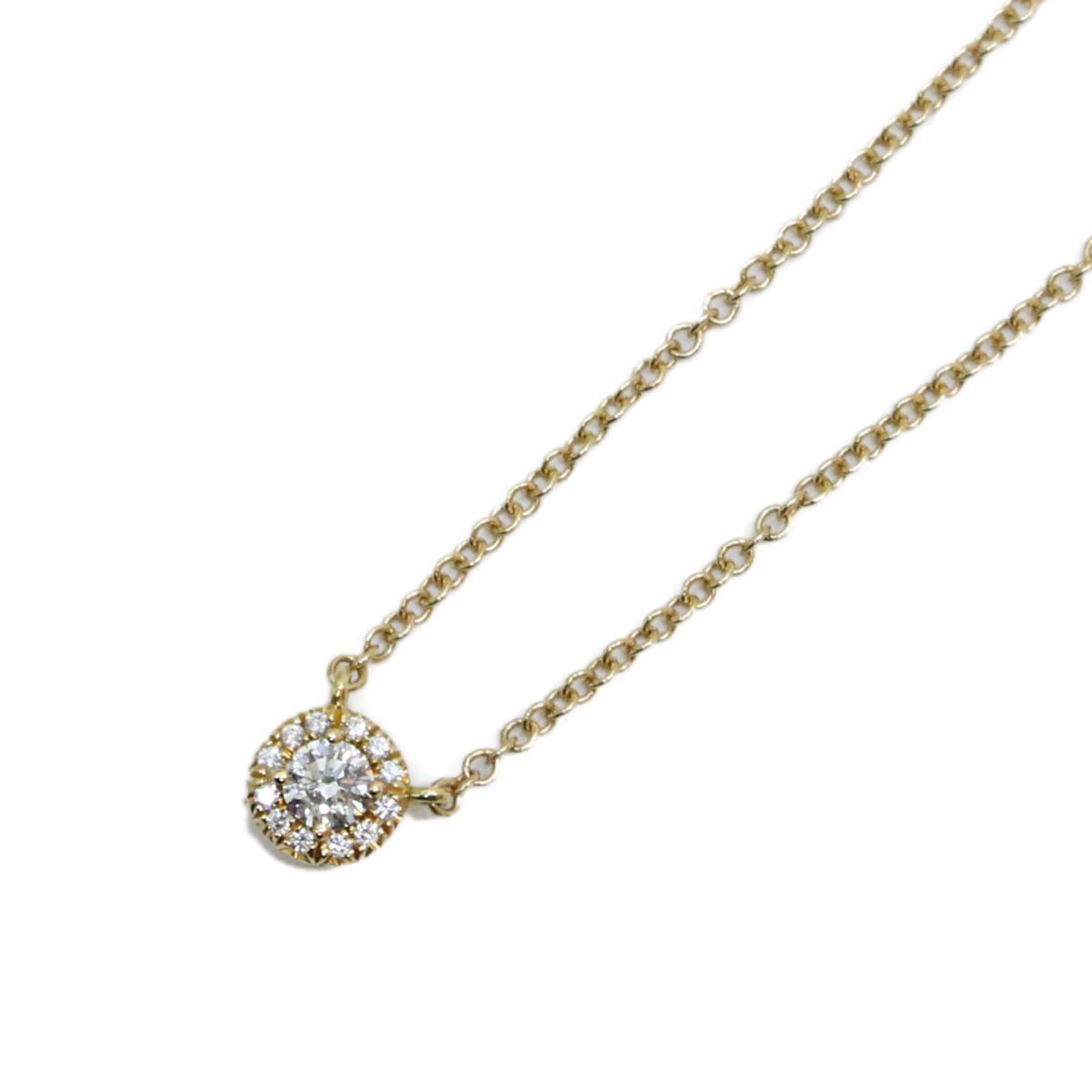 【中古】 ティファニー ソレスト ダイヤ ネックレス レディース K18PG (750) ピンクゴールド x ダイヤモンド (石目なし)   TIFFANY&CO BRANDOFF ブランドオフ ブランド アクセサリー ペンダント