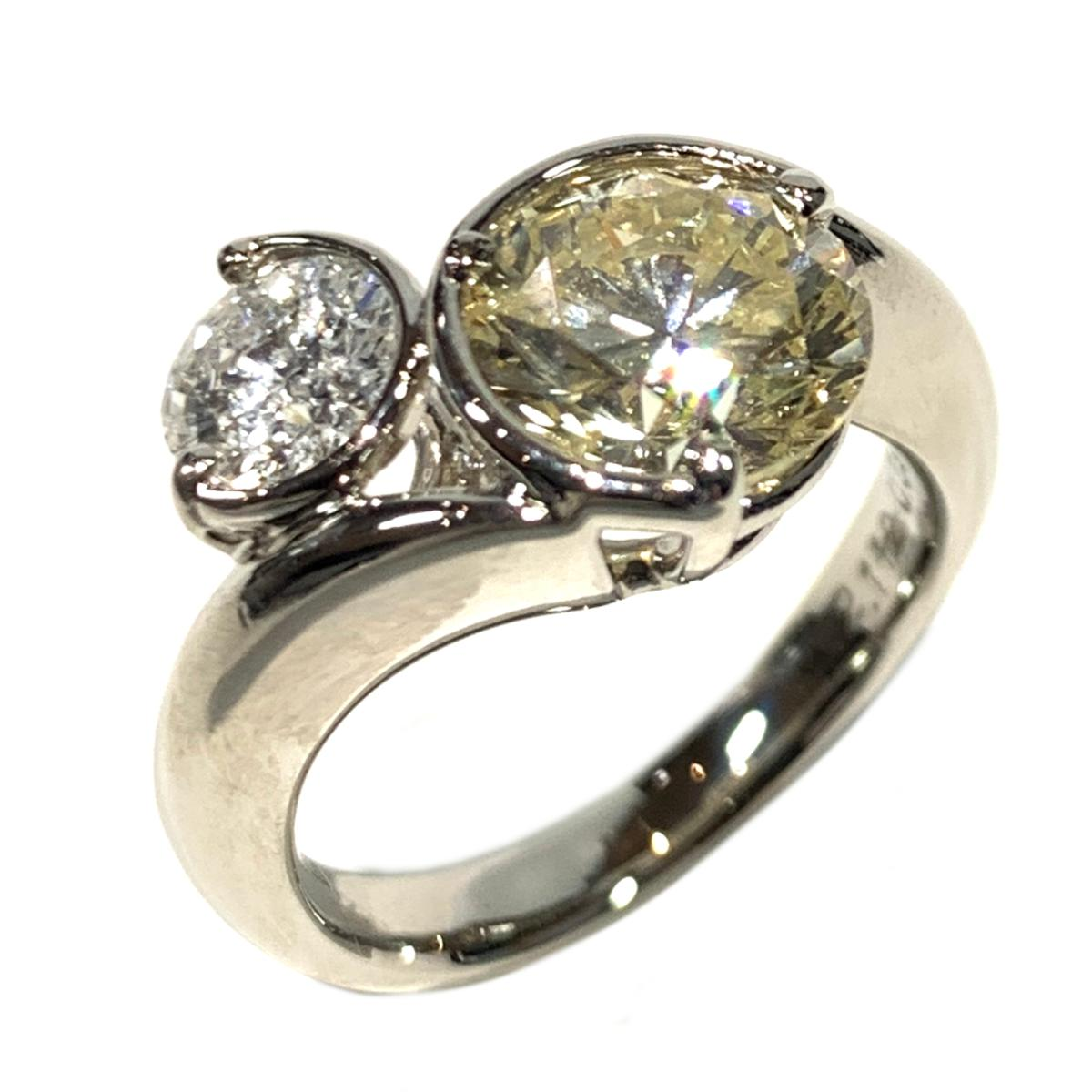 【中古】 ジュエリー ダイヤモンド リング 指輪 レディース PT900 プラチナ x シルバー   JEWELRY BRANDOFF ブランドオフ ブランド アクセサリー