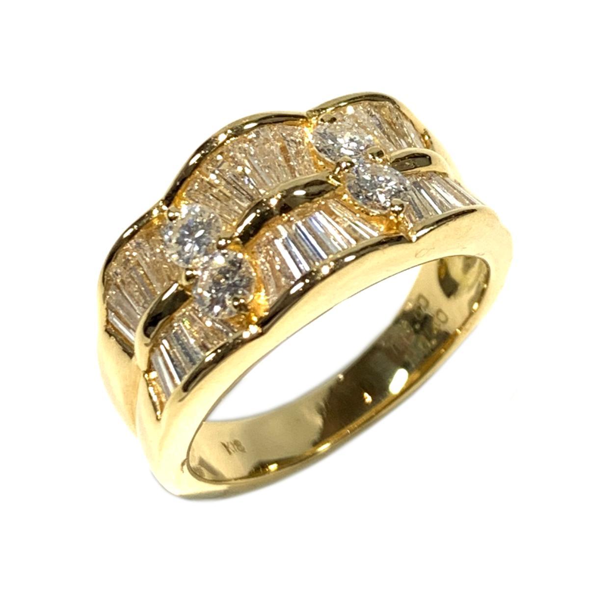 【中古】 ジュエリー ダイヤモンド リング 指輪 レディース K18YG (750) イエローゴールド x 0.40ct ゴールド | JEWELRY BRANDOFF ブランドオフ ブランド アクセサリー