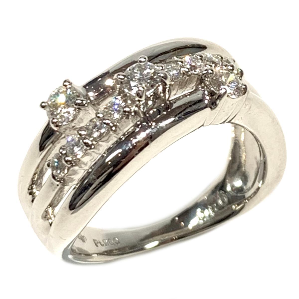 【中古】 ジュエリー ダイヤモンド リング 指輪 レディース PT900 プラチナ x 0.50ct シルバー | JEWELRY BRANDOFF ブランドオフ ブランド アクセサリー