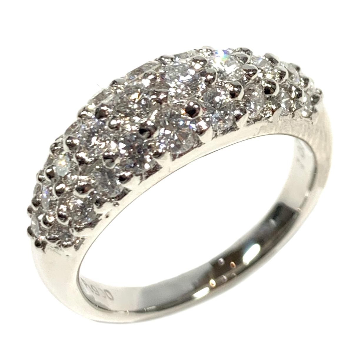 【中古】 ジュエリー ダイヤモンド リング 指輪 レディース PT900 プラチナ x 1.00ct シルバー | JEWELRY BRANDOFF ブランドオフ ブランド アクセサリー