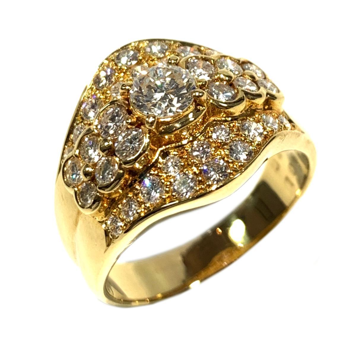 【中古】 ジュエリー ダイヤモンド リング 指輪 レディース K18YG (750) イエローゴールド x 0.45ct/1.06ct ゴールド | JEWELRY BRANDOFF ブランドオフ ブランド アクセサリー