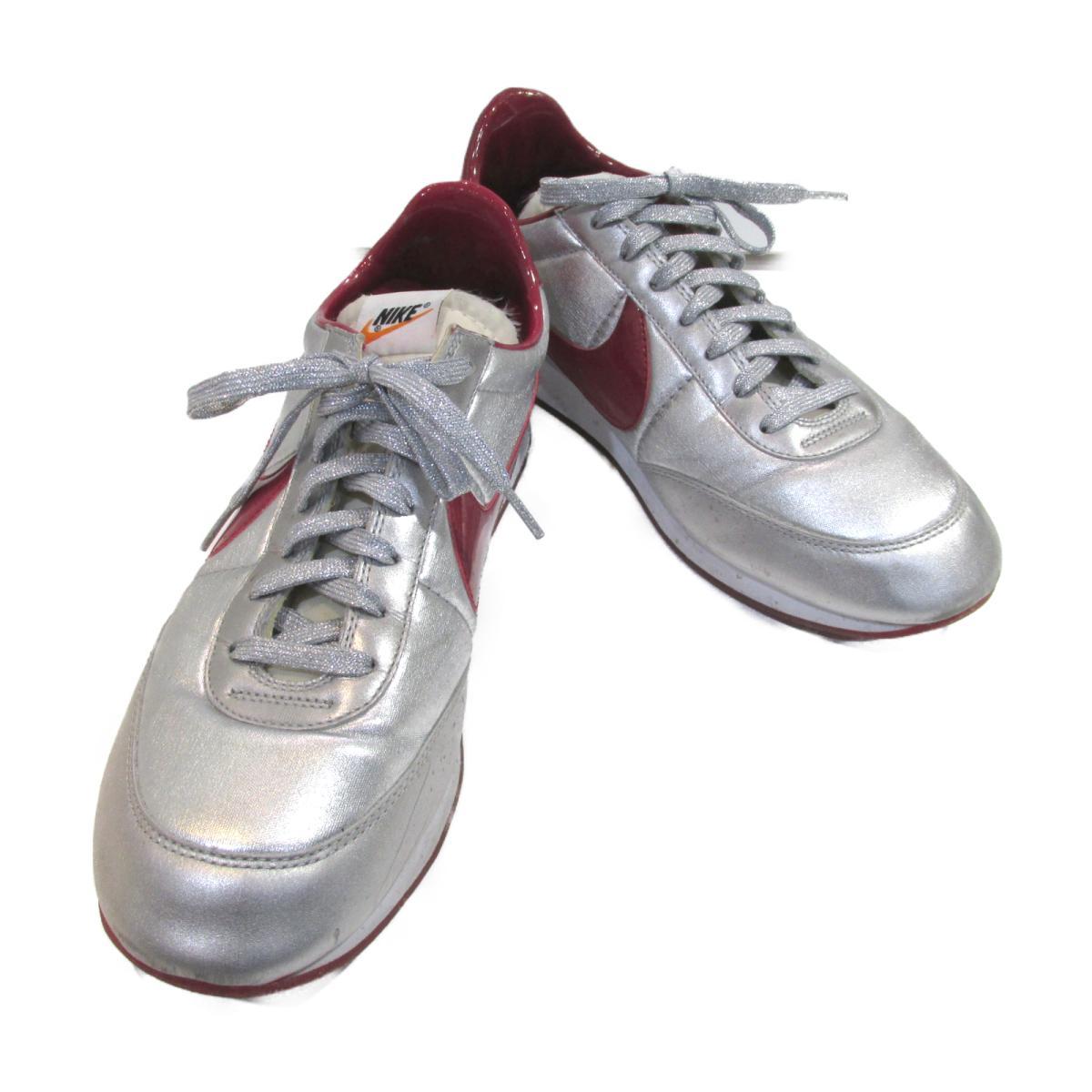 【中古】 ナイキ ナイトトラック スニーカー メンズ レザー シルバー レッド | NIKE BRANDOFF ブランドオフ ブランド 靴 シューズ クツ