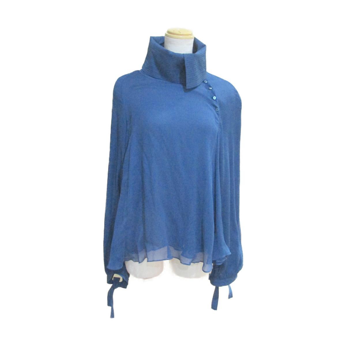 【中古】 セリーヌ ブラウス レディース シルク100% ブルー | CELINE BRANDOFF ブランドオフ 衣料品 衣類 ブランド トップス シャツ