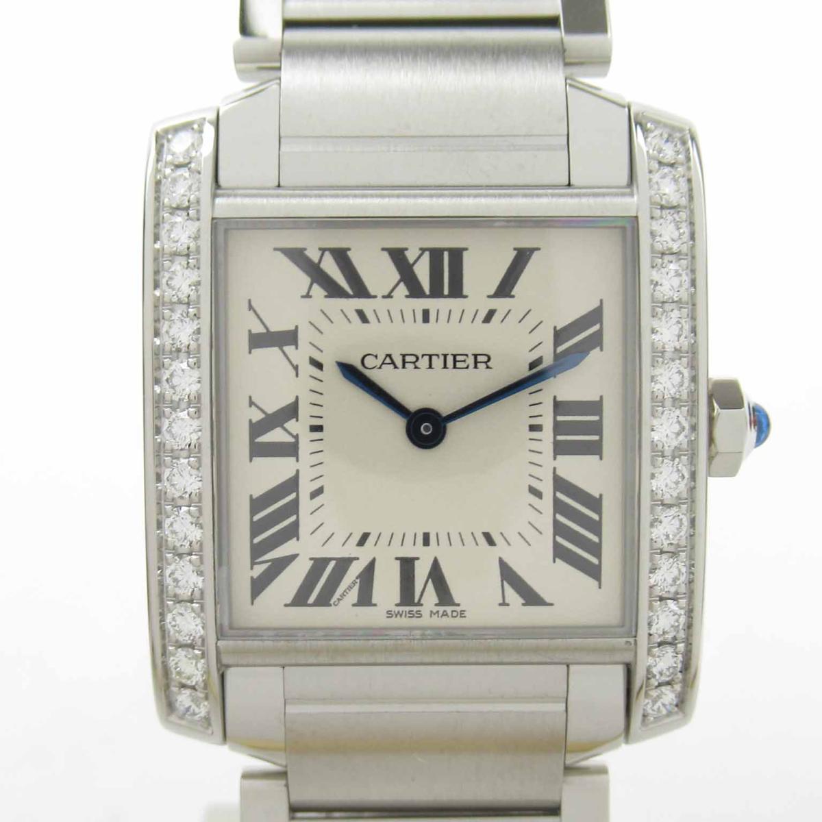 ≪期間限定≫メルマガ登録でクーポンGET! 【中古】 カルティエ タンクフランセーズMM ウォッチ 腕時計 レディース ステンレススチール (SS) (W4TA0009) | Cartier BRANDOFF ブランドオフ ブランド ブランド時計 ブランド腕時計 時計