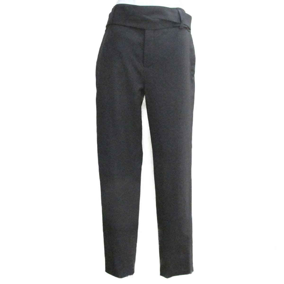 【中古】 サン・ローラン パンツ レディース ウール100% ブラック   SAINT LAURENT BRANDOFF ブランドオフ 衣料品 衣類 ブランド ボトムス