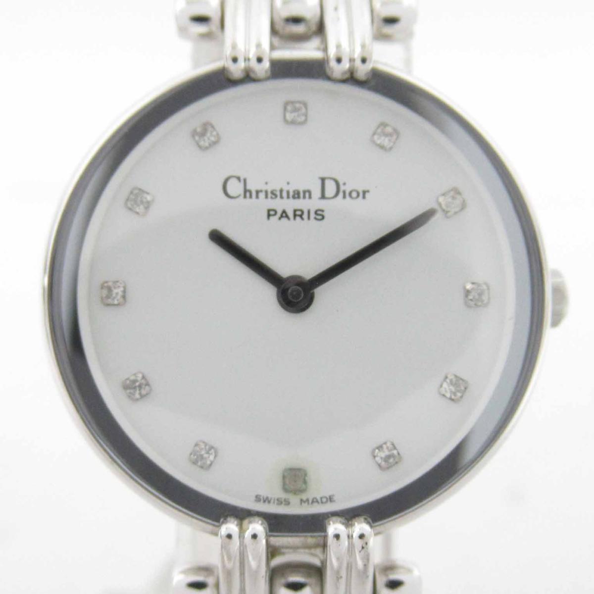 ≪期間限定≫メルマガ登録でクーポンGET! 【中古】 クリスチャン・ディオール バギラ ウォッチ 腕時計 レディース ステンレススチール (SS) (D44-120)   Dior BRANDOFF ブランドオフ ブランド ブランド時計 ブランド腕時計 時計