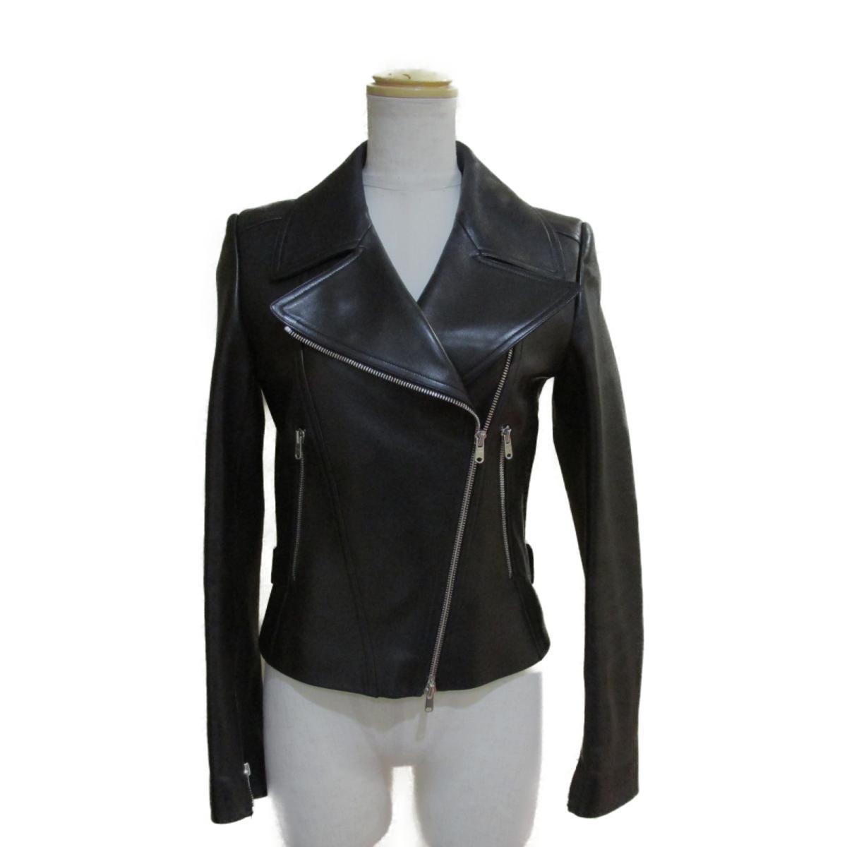 【中古】 アライア ライダース ジャケット レディース 羊革 (ラム)100% ブラック | ALAIA BRANDOFF ブランドオフ 衣料品 衣類 ブランド アウター コート