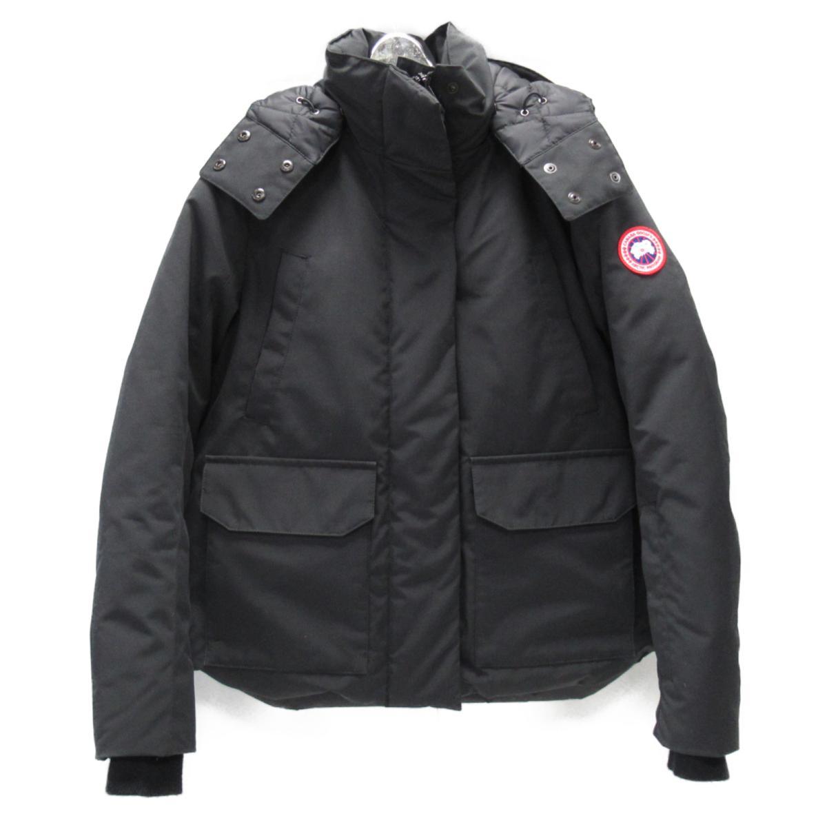 【中古】 カナダグース ダウンジャケット レディース ポリエステル (85%) x コットン (15%) ブラック (5804L) | CANADA GOOSE BRANDOFF ブランドオフ 衣料品 衣類 ブランド アウター ジャケット コート