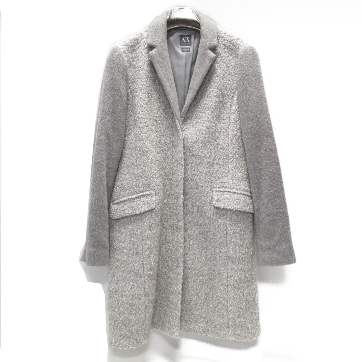 【中古】 アルマーニ・エクスチェンジ コート レディース ウール (52%) x ポリエステル (48%) グレー | ARMANI EXCHANGE BRANDOFF ブランドオフ 衣料品 衣類 ブランド アウター ジャケット