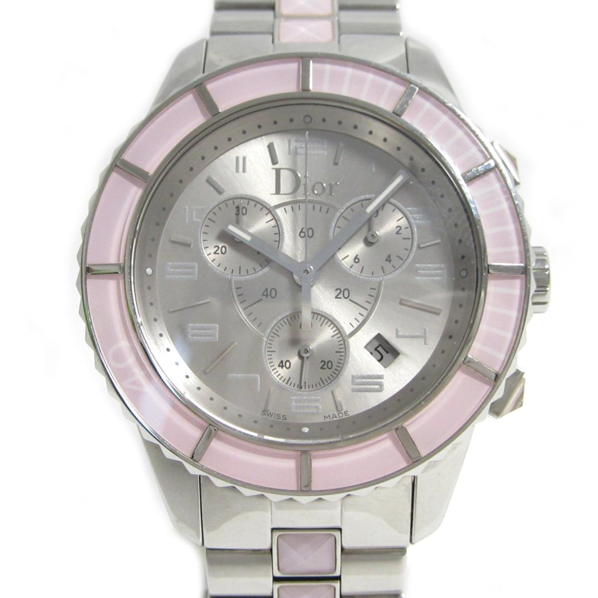 ≪期間限定≫メルマガ登録でクーポンGET! 【中古】 クリスチャン・ディオール クリスタルクロノグラフ 腕時計 ウォッチ レディース ステンレススチール (SS) (CD114314) | Dior BRANDOFF ブランドオフ ブランド ブランド時計 ブランド腕時計 時計