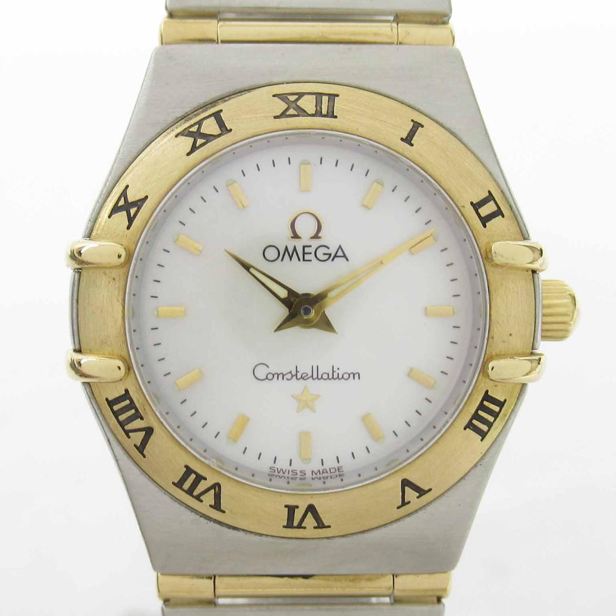 【中古】 オメガ コンステレーション ウォッチ 腕時計 レディース K18 ステンレススチール (ss) (1262.70) | OMEGA BRANDOFF ブランドオフ ブランド ブランド時計 ブランド腕時計 時計