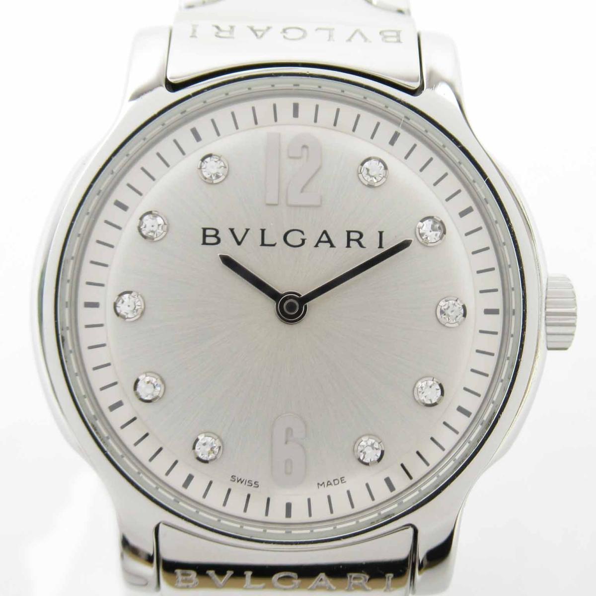 ≪期間限定≫メルマガ登録でクーポンGET! 【中古】 ブルガリ ソロテンポ 10Pダイヤ ウォッチ 腕時計 レディース ステンレススチール (SS) (ST29S) | BVLGARI BRANDOFF ブランドオフ ブランド ブランド時計 ブランド腕時計 時計