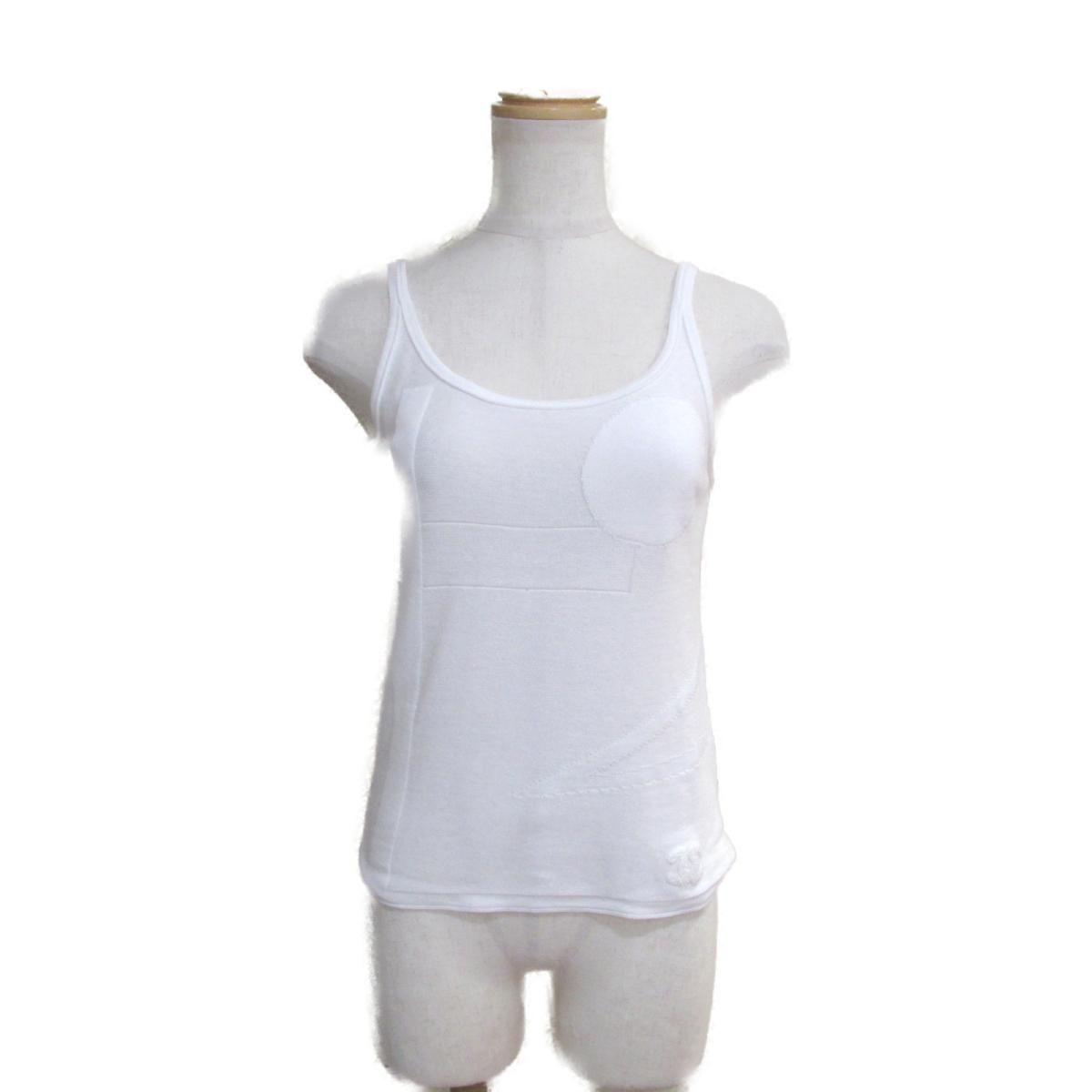 【中古】 シャネル キャミソール レディース コットン100% ホワイト (P46182K05782) | CHANEL BRANDOFF ブランドオフ 衣料品 衣類 ブランド アウター ジャケット コート